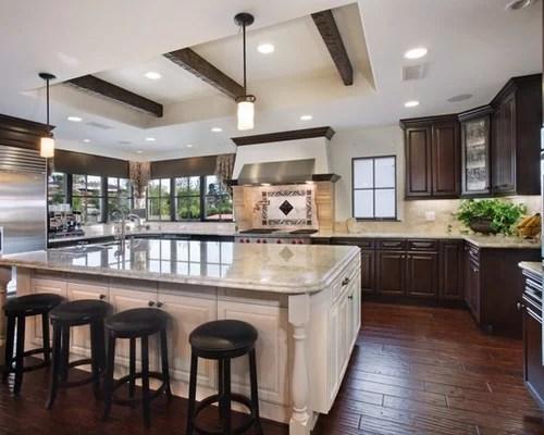 Dark Cabinets Light Island Home Design Ideas Pictures