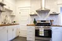Modern White Subway Tile Kitchen