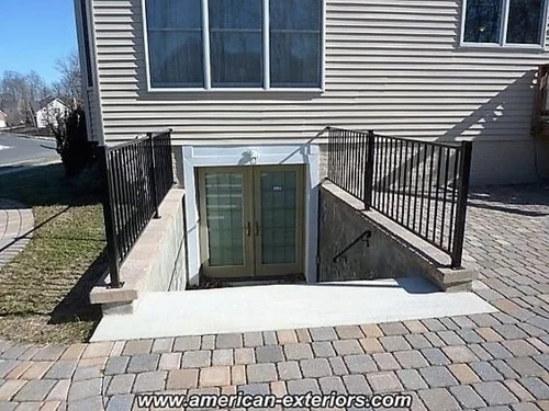 Baby Toddler Proof Exterior Stairs | Outside Stairs To Basement | Outside | Brick | Beautiful | Underground | Enclosed Porch