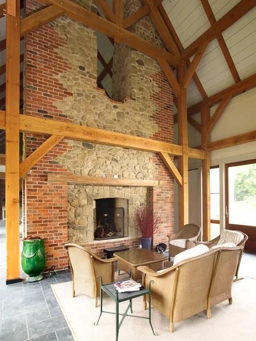 Red Brick Fireplace Houzz