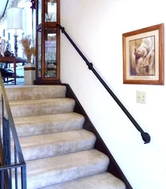 Narrow Stairs No Railing Now What To Do | Handrail For Narrow Staircase | Exterior | Self Standing Narrow | Free Standing | Victorian | Small Staircase