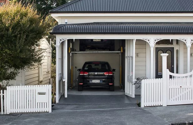 Houzz Tour  Innovative Garage for Historical Home in Auckland Contemporary Garage by Matter
