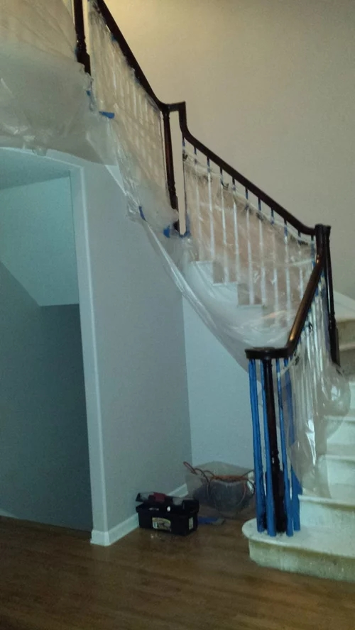Stairs Risers Painted White Or Dark Stain | Hardwood Stairs With White Risers | Pine | Tread | Trim | Hardwood Flooring | Before And After