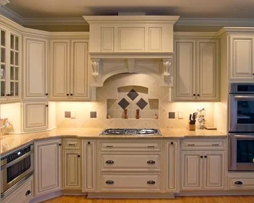 Glazed Cream Cabinets Houzz
