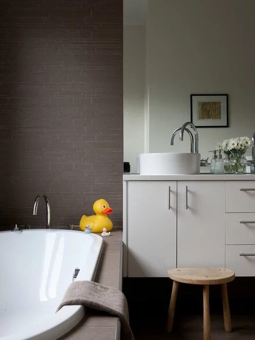 Brown And White Bathroom Houzz