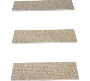 Tape Free Carpet Stair Treads Talas Floral Beige With Mat Set Of | Non Slip Carpet Stair Treads Indoor | Rubber Backing | Decor Rugs | Slip Resistant | Pure Era | Flooring