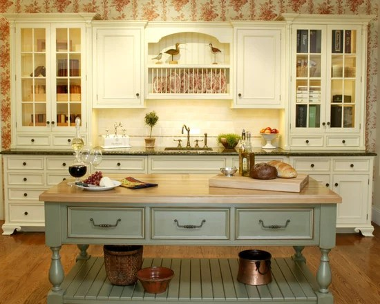 Green French Country Kitchen Houzz