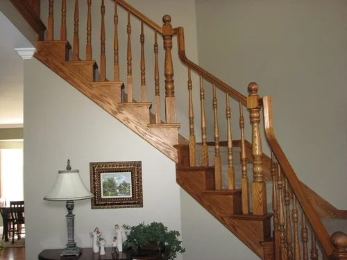 Wrought Iron Or White Wood For Stair Remodel   White Handrails For Stairs Interior   Grey Treads   Safety   Richard Burbidge   Ship Lap   Aluminum
