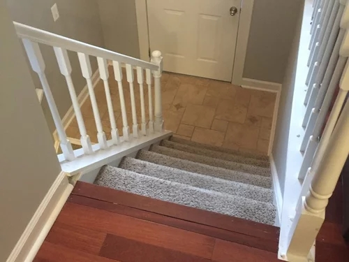 Carpet Stairs To Hardwood | Hardwood Floors With Carpeted Stairs | Wall To Wall Carpet | Painting | Laminate Hall Carpet | Carpet Covered | Carpet Wrapped