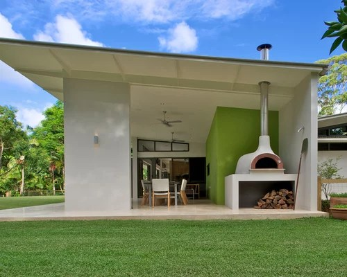 Outdoor Pizza Oven And Fireplace