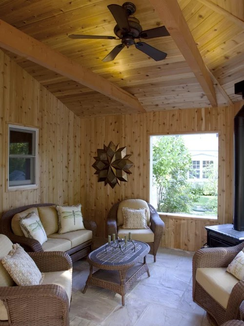 Sunroom With Wood Burning Stove Design Ideas Amp Remodel