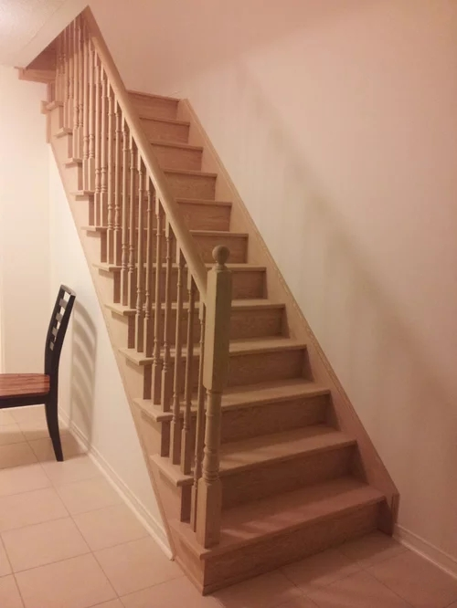 Stairs White Risers White Spindles Or Both | Wood Steps With White Risers | Timber | Wood Stair | Before And After | Color | Stair Tread