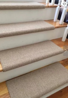 Carpeting Stair Treads Only | Stairs With Carpet Treads | Oak | Semi Circle | Outdoor Carpet | Laminate | Turquoise