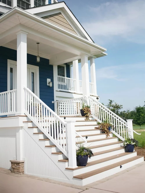 Front Steps Home Design Ideas Pictures Remodel And Decor   Front House Stairs Design