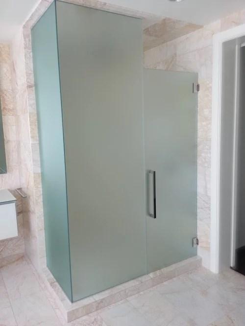 Satin Doors Etched Shower
