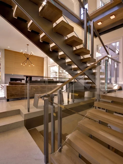 Open Tread Stair Ideas Pictures Remodel And Decor   Open Tread Staircase Designs