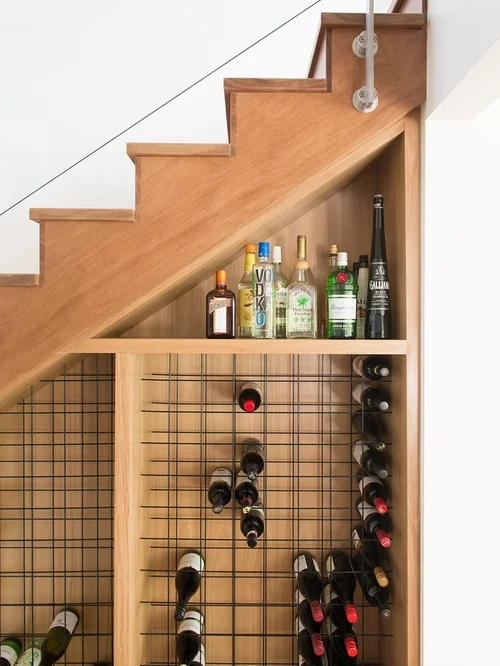 Wine Bar Under Stairs Home Design Ideas Pictures Remodel | Bar Counter Design Under Stairs