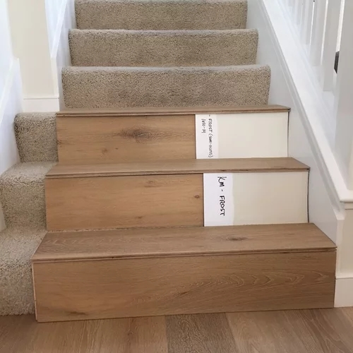 Stairs Hardwood Or Painted Risers | Wood Steps With White Risers | Timber | Wood Stair | Before And After | Color | Stair Tread