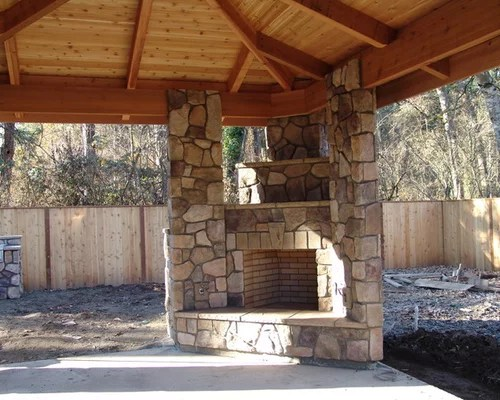 Corner Outdoor Fireplace Ideas Pictures Remodel And Decor