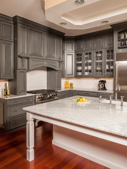 Gray Stained Cabinets Ideas Pictures Remodel And Decor