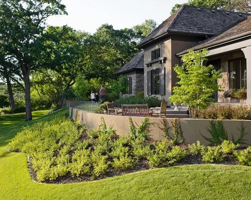 Stucco Retaining Wall Home Design Ideas Pictures Remodel