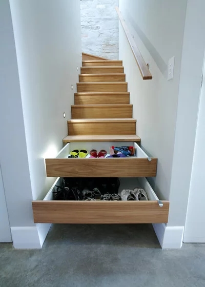 8 Built In Storage Solutions For Small Spaces   Staircases For Tight Spaces   Farmhouse   Cool   10 Ft Ceiling   Ladder   Stylish