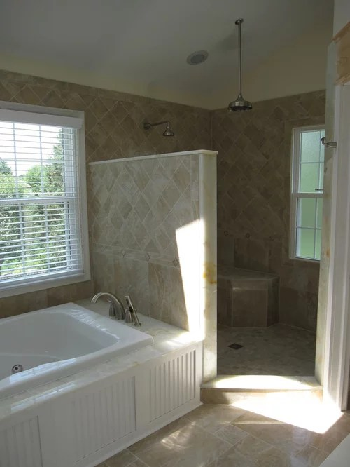 Glassless Shower Ideas Pictures Remodel And Decor