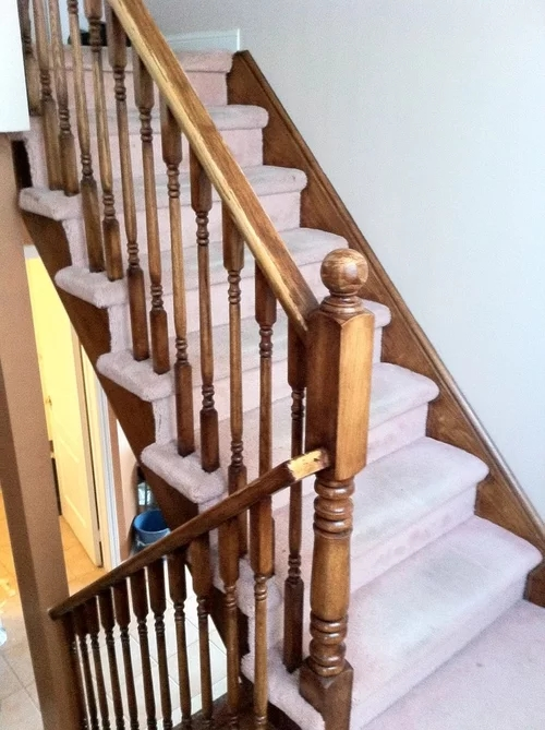 Hardwood To Top Of Stairs Step Transition | Hardwood Floor To Stair Transition | Porcelain Tile | Molding | Stair Tread | Vinyl Plank | Carpeted Stairs