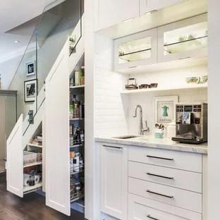 Kitchen Under Stairs Ideas Photos Houzz | Kitchen Under Stairs Design | Cupboard | Living Room | Wet Bar | Basement Renovations | Staircase Storage