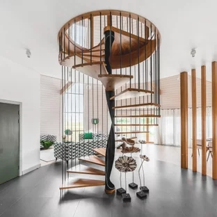 75 Beautiful Spiral Staircase Pictures Ideas September 2020 | 6 Foot Spiral Staircase | Reroute Galvanized | Stair Case | Mylen Stairs | Wood | Metal