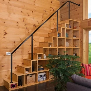 75 Beautiful Small Staircase Pictures Ideas September 2020   Space Saving Staircases For Small Homes   Design   Attic Ladder   Wood   Ladder   Loft Stairs