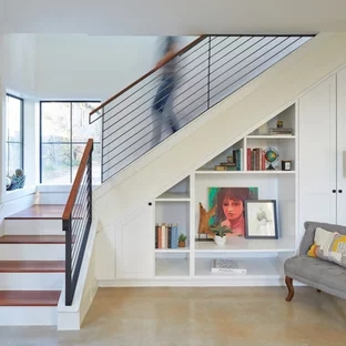 75 Beautiful Small Staircase Pictures Ideas September 2020 | Concrete Ladder Design For Home | Low Budget | Beautiful | Construction | Small Space | Simple