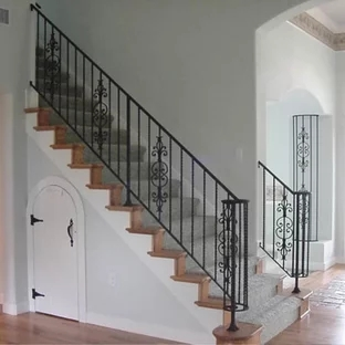Interior Wrought Iron Stair Railing Ideas Photos Houzz | Wrought Iron Railing Interior | Building Iron | Stair | Gallery | Victorian | Outdoor