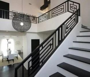Wrought Iron Staircase Design Houzz   Modern Wrought Iron Stair Railing   Custom   Farmhouse   Decorative   Luxury   Outdoor