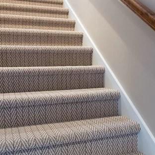 Herringbone Pattern Carpet Ideas Photos Houzz | Grey Patterned Stair Carpet | Teal | Black | Farmhouse Style | Stair Landing | Wall
