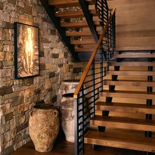 75 Beautiful Rustic Staircase Pictures Ideas September 2020 | Rustic Banisters And Railings | House | Pallet | Veranda | Farmhouse | Solid Wood