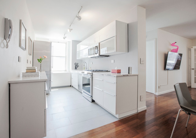 Narrow Kitchen Design Island