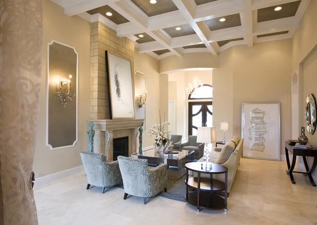 Roz Shuster Design Boca Residence Modern Family Room