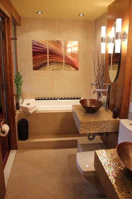 Spa Like Master Bathroom Asian Bathroom Boston By