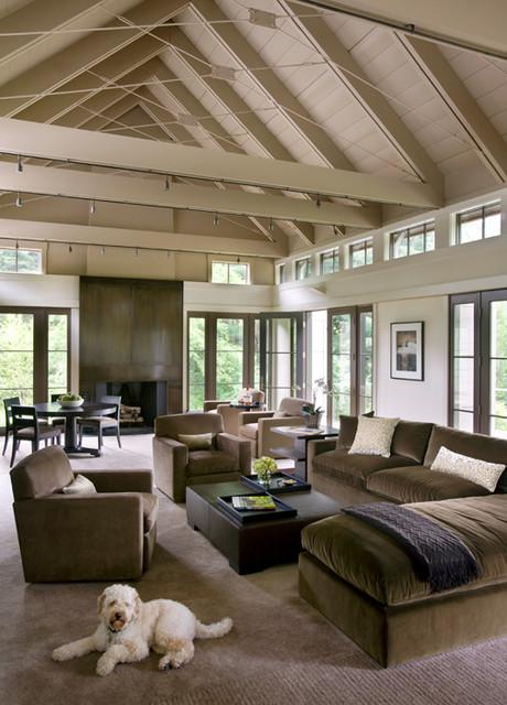 New England Vernacular Contemporary Living Room