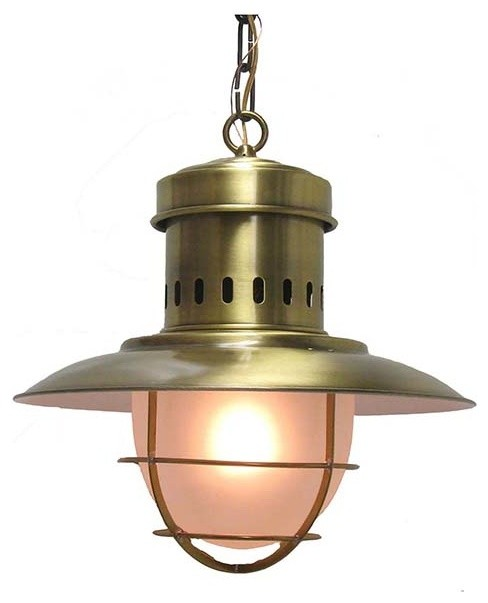 outdoor brass pendant # 39
