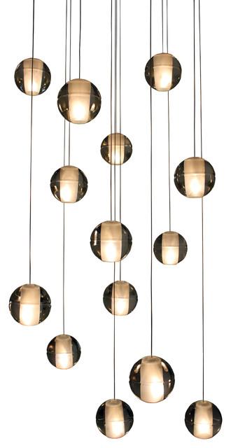 Brushed Nickel Globe Pendant Light