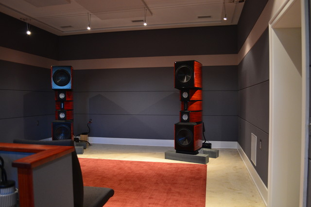 2 Channel Listening Room Front View Contemporary