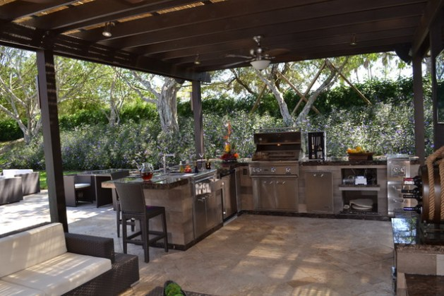 Outdoor Kitchen and pergola Project in South Florida   Traditional     Outdoor Kitchen and pergola Project in South Florida traditional patio