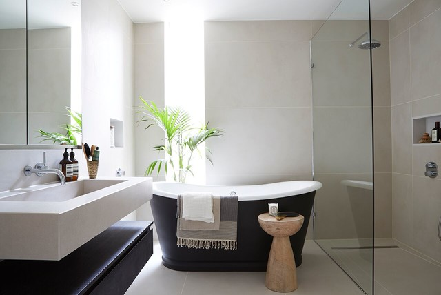 How to Make Your Bathroom Look Like a Spa Contemporary Bathroom by Banda Property