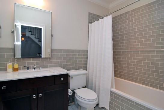 Subway Tile Wainscoting Bathroom