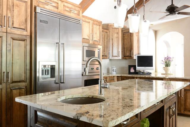 Alpinus Granite Mediterranean Kitchen Dallas By