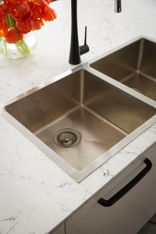 Caesarstone White Attica Kitchen Quartz Countertops