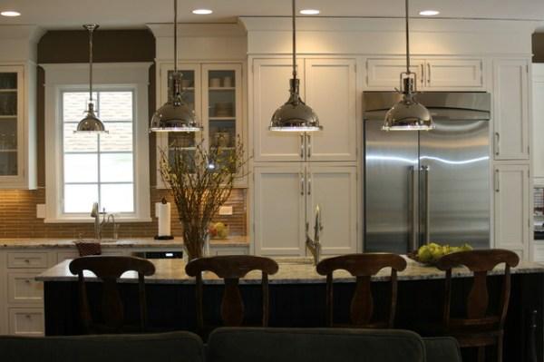 installing pendant lights over kitchen island # 2