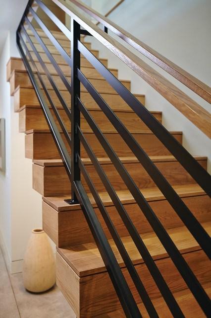 Mid Century Modern Midcentury Staircase Grand Rapids   Mid Century Modern Banister